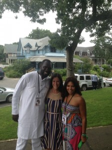 "Serigne ""Mara"" Diakate, CEO of Da'African Village, myself, my friend, Sheryl Piland"